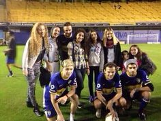 Zayn, Louis, Liam and Niall with fans at Boca Junios, Argentina