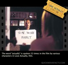 #LoveActually (2003) Love Actually, Movie Facts, You Are Perfect, Film, Words, Movies, Movie, Film Stock, Films