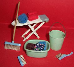 VINTAGE DOLLS HOUSE LUNDBY BARTON ADDIS CLEANING & LAUNDRY ACCESSORIES LOT   eBay