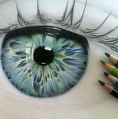 Eye Sketch by Megan Alexa