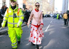 Jenny Walton in a Uniqlo jacket and Simone Rocha skirt