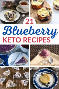A great collection of easy low-carb blueberry recipes to enjoy all year long! Sugar Free Sweets, Low Carb Sweets, Sugar Free Recipes, Low Carb Desserts, Healthy Desserts, Easy Desserts, Blueberry Recipes Low Carb, Fruit Recipes, Low Carb Recipes