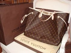 Louis Vuitton Gm Neverfull my new love!best new item for all my crap! And touch of personal initials!