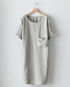 4aa129b6d9c4c 9 Best Linen Tunic Dress images | Linen dresses, Sew dress, Tunic