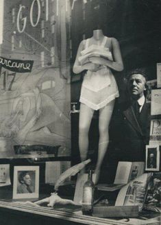 André Breton by Marcel Duchamp, 1945.