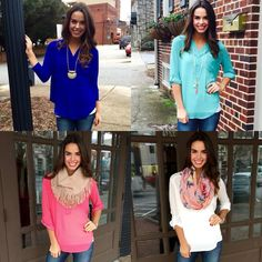 Blouses with different ideas.