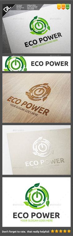 Eco Power — Vector EPS #business #plant • Available here → https://graphicriver.net/item/eco-power/10140633?ref=pxcr