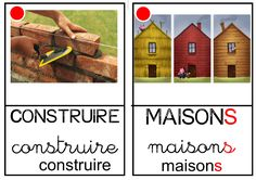 """Imagier des """"Trois petits cochons"""" Petite Section, French Immersion, Three Little Pigs, Teaching Aids, Teaching French, Ms Gs, Montessori, Preschool, Construction"""