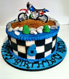 Dirt bike birthday cake!