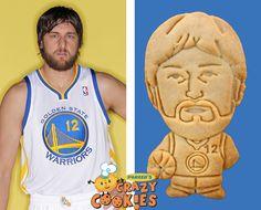 Celebrity Party Favor - Golden State Warrior - Andrew Bogut - Custom Cookies