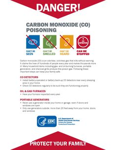#CDC #CarbonMonoxide #Warning #Safety #flyer