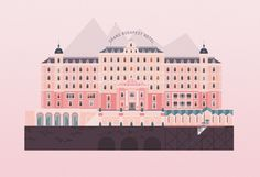 the grand budapest hotel illustration - Google Search