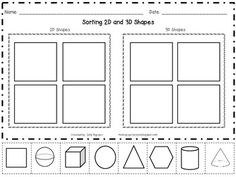 42 Best 3D Shapes (Kindergarten) images in 2018 | Teaching