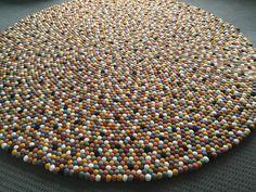 Image of 180cm Felt Ball Rug - Simba http://www.bostonbrands.com.au/product/180cm-felt-ball-rug-simba