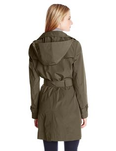 Calvin Klein Womens Single Breasted Classic Trench Coat Truffle Small --  Check out the image ee5cccc6ea9