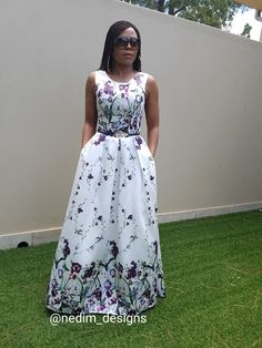 Flowers Maxi Dress @nedim_designs African Print Dresses, African Print Fashion, Africa Fashion, African Wear, African Fashion Dresses, African Dress, Fashion Outfits, Modest Dresses, Cute Dresses
