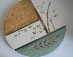 Paint Effects, Wood Planks, Painted Signs, Basket Weaving, Wood Art, Ideas Para, Wood Signs, Mandala, Scrap