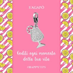 Goditi ogni momento della tua vita #HappyTips #Quote #Motivation #Quotes #charms #ciondoli #pendant #gioielli
