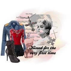 A fashion look from April 2011 featuring red vintage dress, zipper leather jacket and wide skirt. Browse and shop related looks. Vintage Red Dress, Vintage Dresses, Music Bands, Madonna, Singers, Leather Jacket, Fashion Looks, Polyvore, Shopping