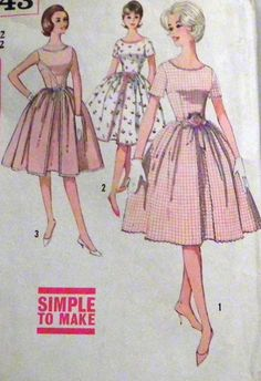 1950s Rockabilly Party Dress sewing pattern by retroactivefuture