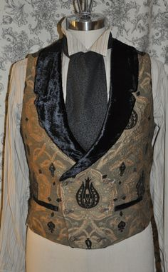 Mens Low Cut Vest-- Victorian--Steampunk---Sherlock Holmes Style---Custom--Made to Order--Made to Personal Measurements. $140.00, via Etsy.