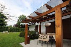 Porches de madera con techo de cristal   Akrista