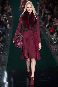 #ElieSaab #FW2014_15 #trends #red #furry #Catwalk #PFW #Paris