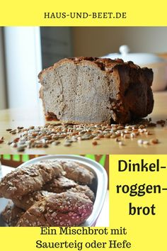 The simple, classic spelled rye bread recipe. A quick bread, perfect for . - Delicious Meets Healthy: Quick and Healthy Wholesome Recipes Easy Healthy Recipes, Vegetarian Recipes, Rye Bread Recipes, Whole Wheat Bread, Vegan Bread, Bread Baking, Yeast Bread, Snacks, Food And Drink