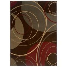 @Overstock - This contemporary brown area rug will look classy in any living room or dining room. The abstract design is made from a blend of brown, green, red, and ivory that is sure to complement most interior color schemes. The rug measures 5' by 7'6'.http://www.overstock.com/Home-Garden/Indoor-Brown-Abstract-Area-Rug-5-x-76/5543385/product.html?CID=214117 $96.99