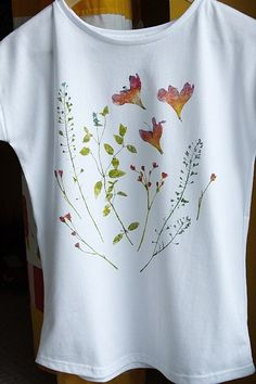 hand painted tshirt flowers