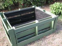 pallets turned into raised beds - lined with landscape fabric IMG_9860 #raisedgarden