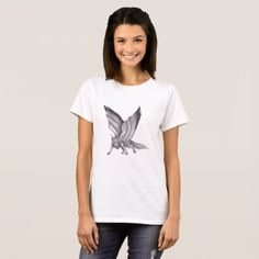 #Winged Unicorn Wolf T-Shirt - #dog #doggie #puppy #dog #dogs #pet #pets #cute #doggie #womenclothing #woman #women #fashion #dogfashion