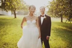 Gorgeously chic wedding photographed by Luke Eshelman