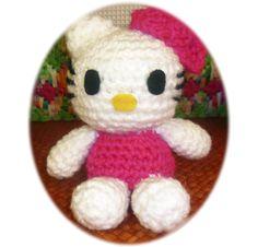 Patron Hello Kitty Grande Amigurumi : Este fue mi primer #amigurumi de tamano grande #crochet # ...