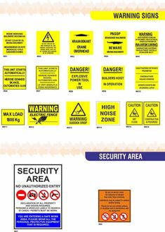 Warning Signs Program Management, Warning Signs, Safety, The Unit, Security Guard