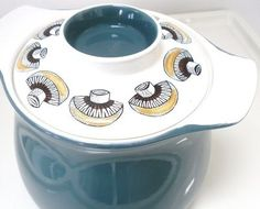 Vintage 1960s Poole Pottery mushroom tureen. I have this