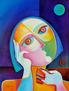 Original Modern Abstract Art Acrylic Painting on by MarlinaVera