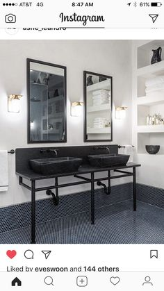 Naomi Watts, Architectural Digest, Unique Bathroom Sinks, Beautiful Bathrooms, White Bathroom, Bathroom Ideas, Bathroom Furniture, New York City Apartment, Manhattan Apartment