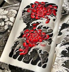Tattoo of chrysanthemum – irezumi / japan tattoo, chrysanthemum Irezumi Tattoos, Leg Tattoos, Body Art Tattoos, Tribal Tattoos, Geisha Tattoos, Arabic Tattoos, Dragon Tattoos, Japanese Flower Tattoo, Japanese Tattoo Designs