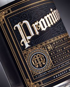 Promineo Whiskey — The Dieline - Branding & Packaging Type Design, Label Design, Print Design, Package Design, Graphic Design, Branding Design, Flyer Design, Whiskey Label, Whisky