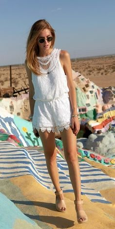 Tularosa ace romper in white from revolveclothing.com
