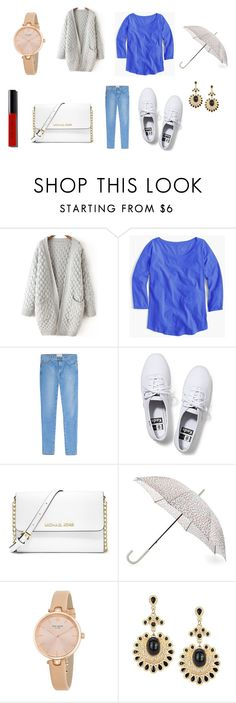 """""""Untitled #7782"""" by allitiner16 ❤ liked on Polyvore featuring J.Crew, Current/Elliott, Keds, MICHAEL Michael Kors, Hunter, Kate Spade, Bobbi Brown Cosmetics, women's clothing, women and female"""