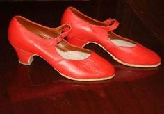 Classic red dance shoes DWTS Dancing with the Stars