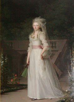 Chemise a la Reine: Louise Augusta. 1780, Jens Juel.