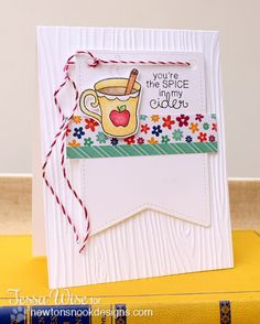 Apple Cider Card by Tessa Wise for Newton's Nook Designs | Apple Delights Stamp Set