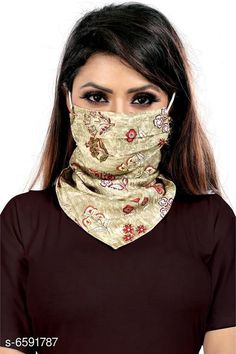 Masks Face Mask Material: Chiffon Type: Face Mask Multipack: 1 Description: It Has 1 Piece Of Women Sun Protection Print Scarf Dust Proof Neck Scarf Masks Size: Free Size Feature: Prevent Facial Skin Damage, Cool Protection It's very soft and close to your skin. Can absorb sweat from your face and dry quickly, UV-Proof, Dust-Proof, Sand- Proof, Windproof Wear it as a face mask to protect your face get burned from sun rays directly Also they help keep your nose and mouth clean from breathing dust Suitable for women,Girls, Easy to breath and Lightweight easy to carry Recommended for achieving Ultimate Coverage in Sun Protection while participating in outdoor activities wearing UPF 50+ clothing Sizes Available: Free Size *Proof of Safe Delivery! Click to know on Safety Standards of Delivery Partners- https://ltl.sh/y_nZrAV3  Catalog Rating: ★4 (383)  Catalog Name: Face Mask CatalogID_1050263 C89-SC1758 Code: 471-6591787-