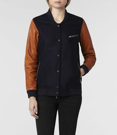 AllSaints Biwa Bomber   Womens Leather Bomber Jackets