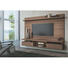 painel Home theaters Painel Home The - hometheaters Tv Wall Design, Tv Unit Design, Painel Home, Tv Unit Furniture Design, Home Theater Projectors, Home Tv, Living Room Tv, New Homes, Interior Design
