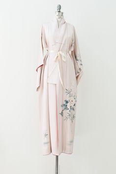 Rare Vintage Painted Peony Kimono - One Size