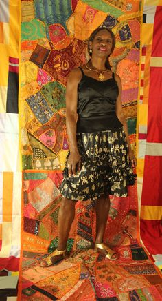Black and Gold African Print A line skirt with ruffles #africanprint #afrocentric #africanfabric #africanpatchwork #patchworkfabric #patchworkclothing